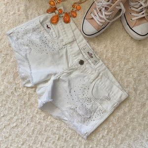 White Diamond Hollister Jean Shorts